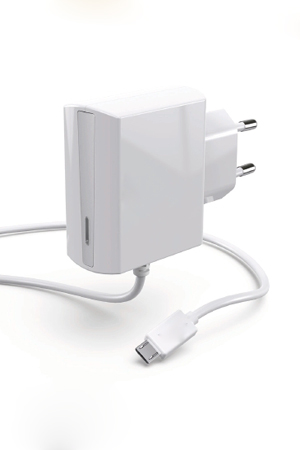 TA-121 Wall charger with captive cable micro USB plug(WHT)